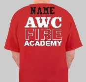 AWC Fire Academy T-Shirt With Name